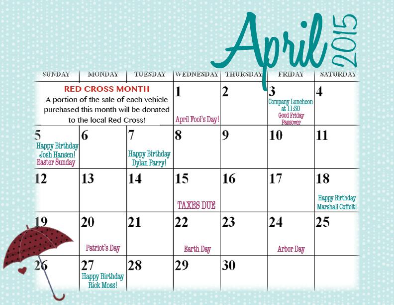 April Company Calendar